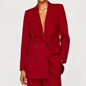 ZARA Woman Hot 💕Pink Double Breasted Jacket Small
